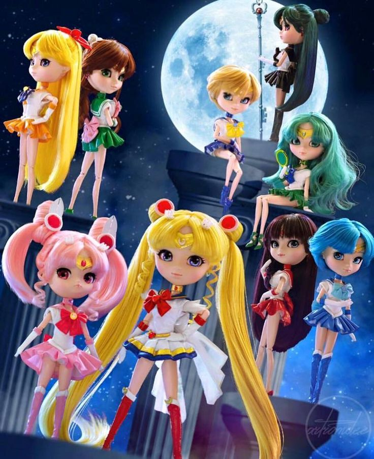 """quenserenity: """" almost all of the sailor moon crystal pullip dolls"""