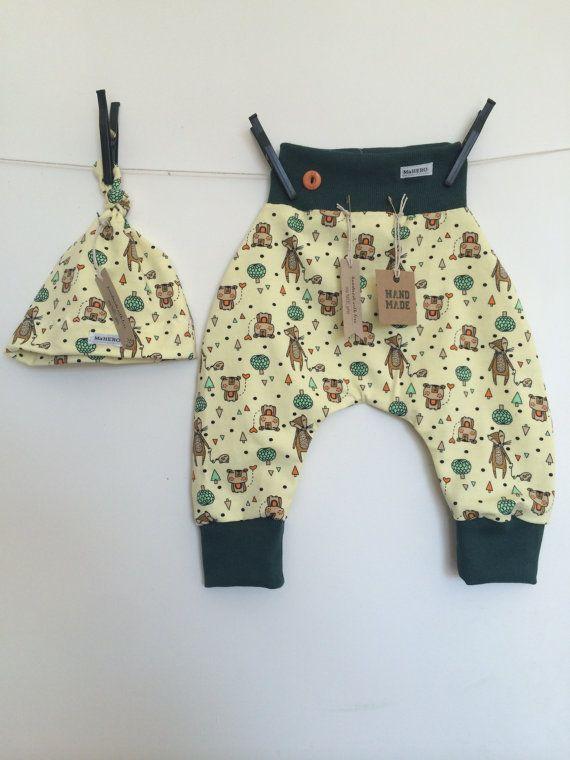 SET Baby harem pants FOX  Baby Beanie / Baby Hat / by MaHEROsydney