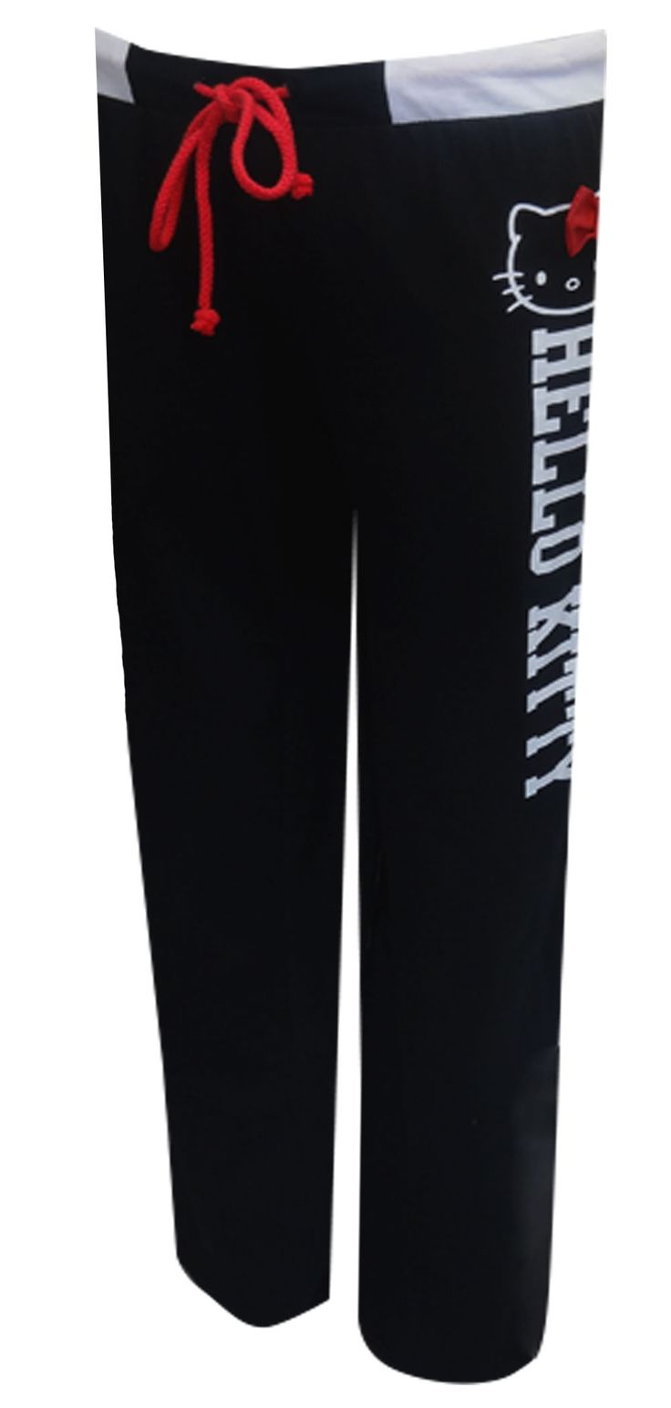 Hello Kitty Classic Black Lounge Pants An adorable wardrobe basic for Hello Kitty fans! These black 100% cotton loungepants for...
