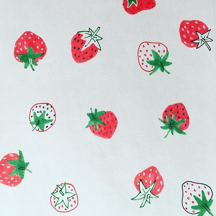28 mentions J'aime, 1 commentaires – Helise (@scandipan) sur Instagram : «🍓🍓🍓 #strawberry #fraise #foodillustration #fruit #fruitillustration #sketching #doodle #fruitdoodle…»