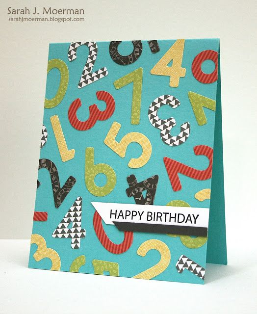 My Impressions: Simon Says Stamp Birthday Numbers Cards