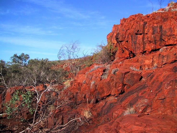 De Beers Australia Field trip, October 2003. Hammersley Ranges.