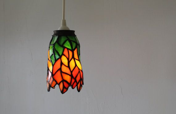 Tigerlily Hanging Pendant Lamp Featuring A Vintage