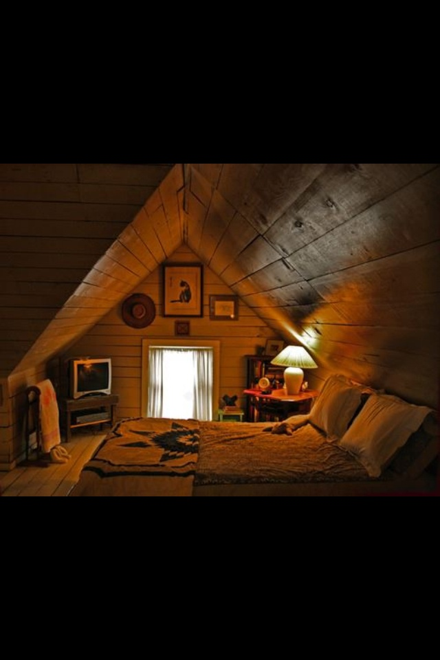 242 best spaces images on pinterest home architecture and live - The rustic attic ...