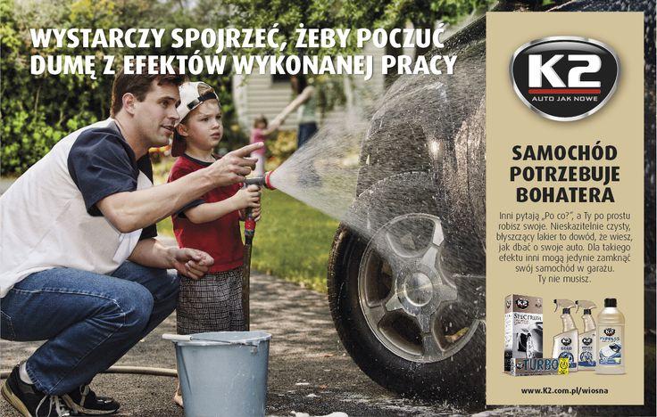 Jak zawsze być dumnym z efektów swojej pracy? Dowiedz się więcej o pielęgnacji auta na k2.com.pl/wiosna