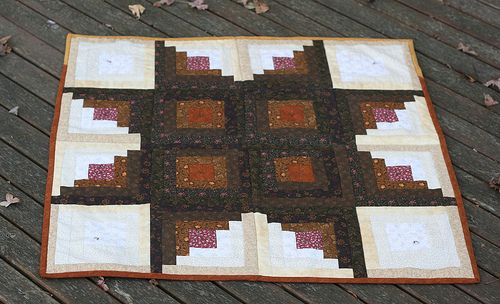 Star Log Cabin Quilt!