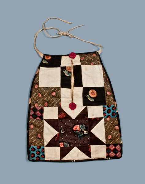 Early Sewing Pocket, American, late 18th or early 19th c.