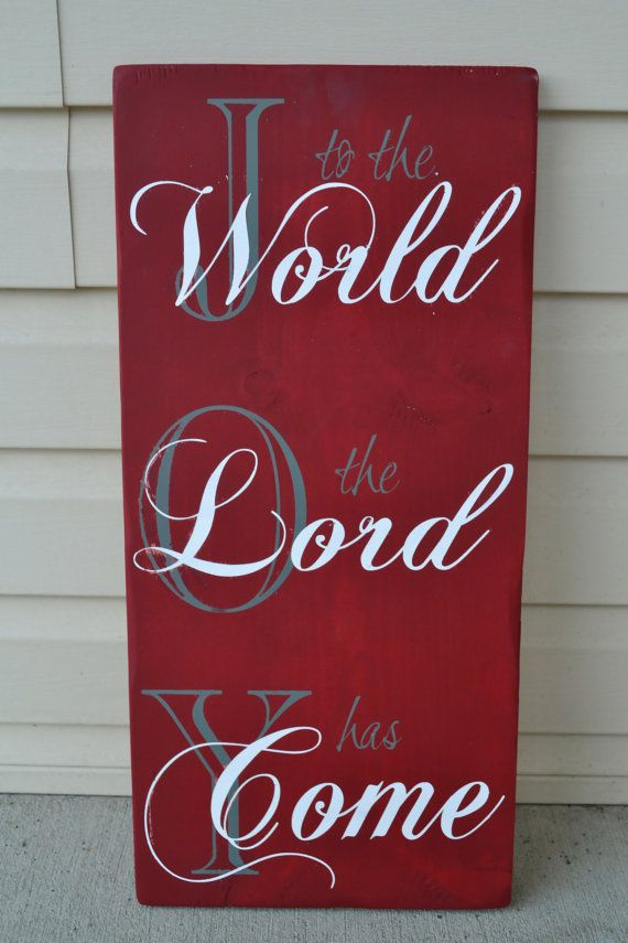 joy to the world christmas wood signs hand by DesignsOnSigns3, $30.00