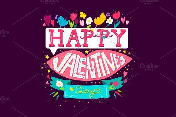 Happy Valentine's Day Greeting by barsrsind on @creativemarket