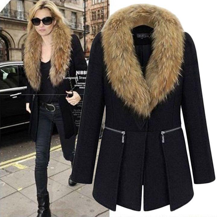 faux fur wool coat – Maries Boutique