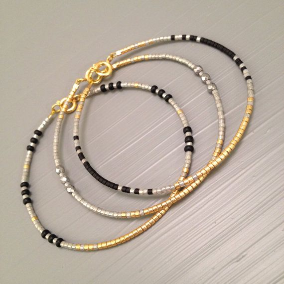 Tiny Bracelet, Everyday Bracelet , Simple Cuff Bracelet , Wish Bracelet , Cuff Jewelry, Tiny Jewelry This listing is for one beaded gold fill