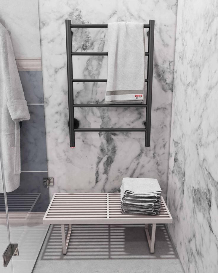 The versatility of marble allows for boldness with the selection of finishes. One option is to choose various fittings in Brushed Bronze or even Matt Black.