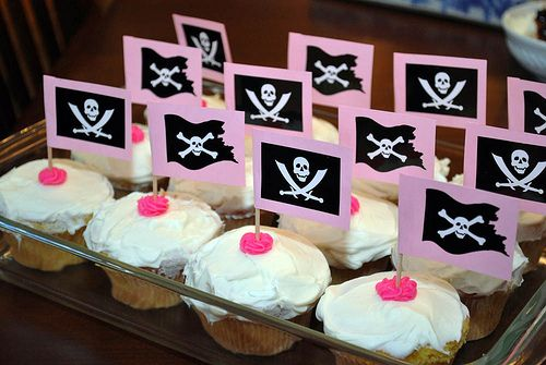 Pirate Princess Party Cupcakes by