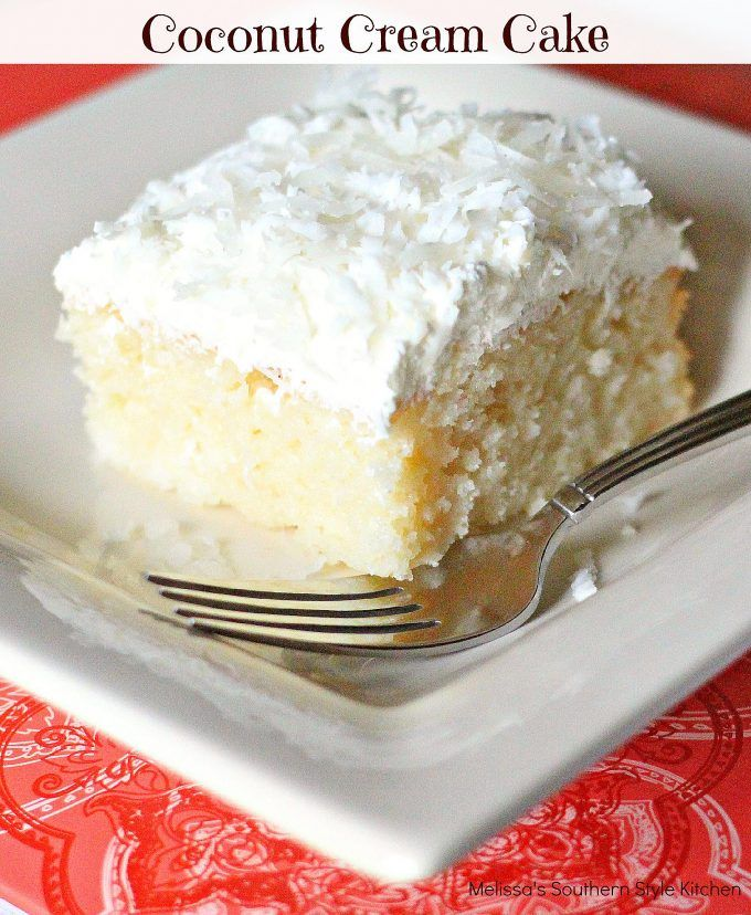 Coconut Cream Cake from Melissa's Southern Style Kitchen