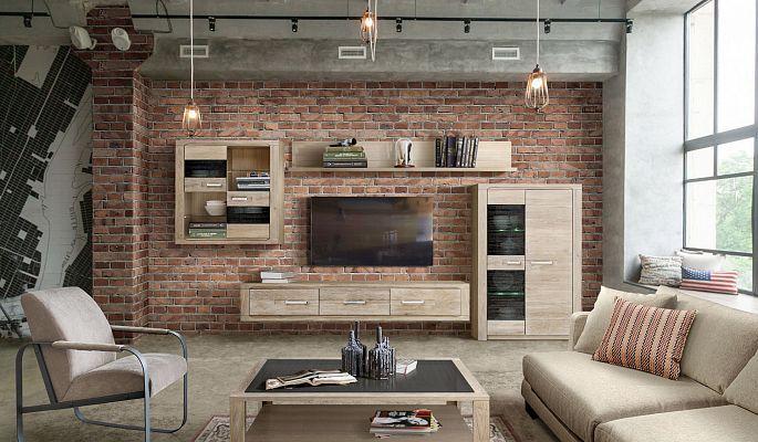 Мебель Стромберг в стиле Лофт от Wellige | Гостиные, библиотеки из массива дуба