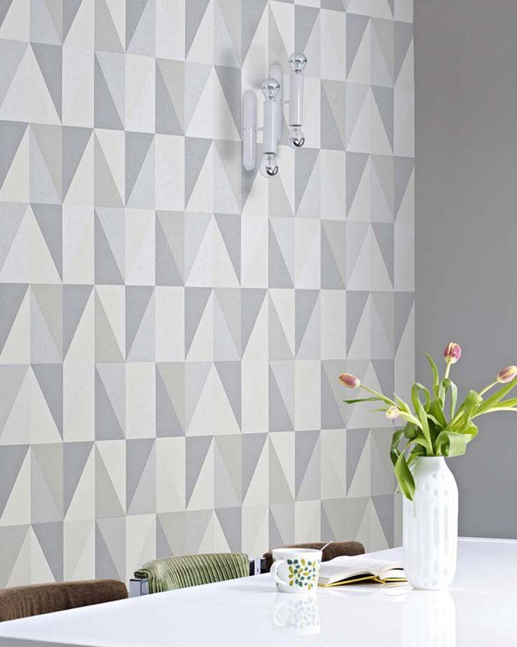 Lenus | Papel de parede geométrico | Padrões de papel de parede | Papel de parede dos anos 70