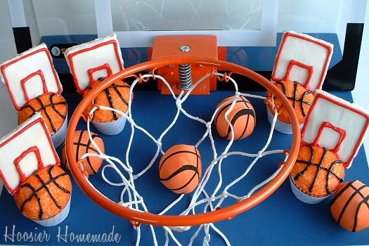 Basketball Cupcakes with a video tutorial...attempting to make these for end of season party!