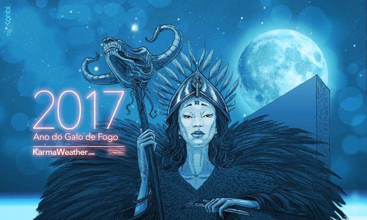 Horóscopo chinês 2017 dos 12 signos do calendário chinês. O ano novo chinês é 28 de janeiro 2017.Previsões 2017 do horóscopo chinês para o Ano Novo chinês 2017. Por Karmaweather