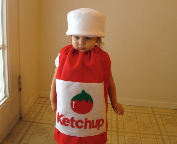Kids Costume Childrens Costume Halloween Costume Ketchup Costume on Etsy, $65.00