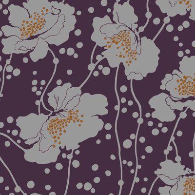 Florence Broadhurst Spotted Floral Plum by  #materialisedfabrics #fabricsfortherealworld #performancefabrics #florencebroadhurst