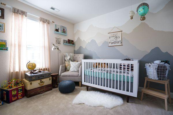 Neutral Nursery with travel/adventure theme