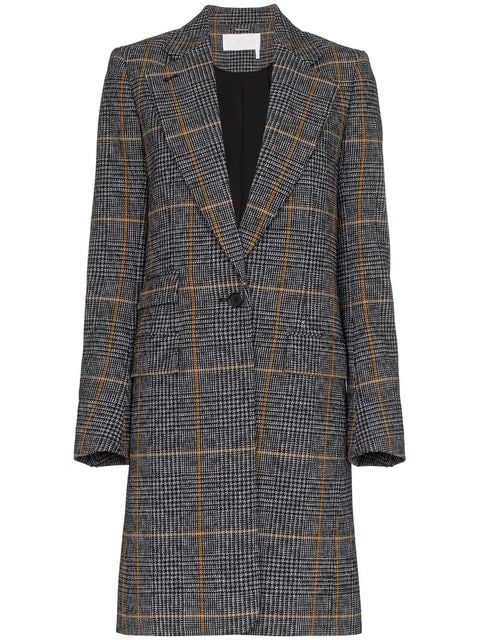 Chloé Single Check Breasted Coat Check Single Breasted Single Chloé Breasted Coat Chloé Check qUwHSR