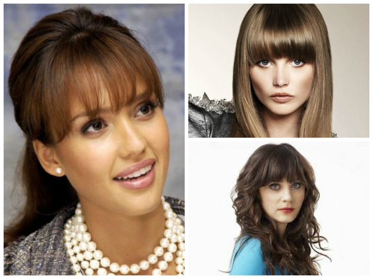 Bangs for women with oval face shapes.