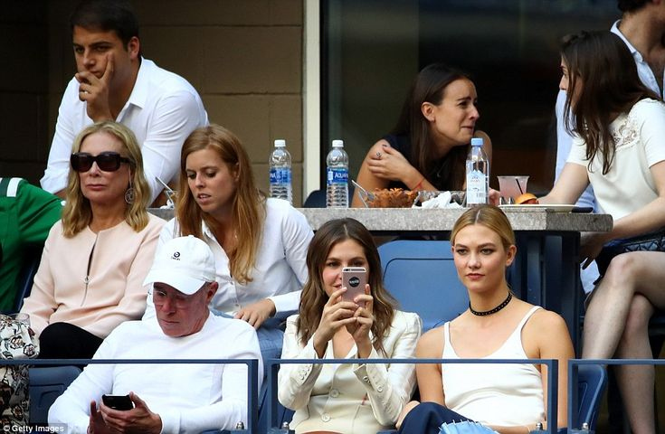 Princess Beatrice sat behind media mogul David Geffen and not far from Karlie Kloss at the game