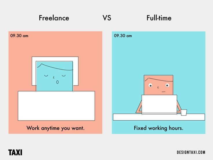 Work in freelance jobs or take a full time position? You decide. Go through these hilarious illustrations and make up your mind as you pick your side.