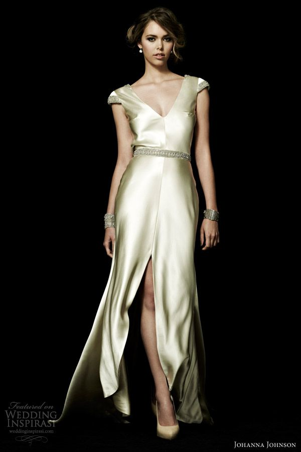 johanna johnson bridal spring 2013 monaco cap sleeve wedding dress