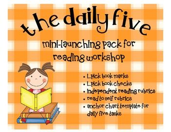 FREEBIE! This packet contains resources that focus on some of the Daily 5 ideas.  Rubrics, bookmarks, anchor chart templates and more.