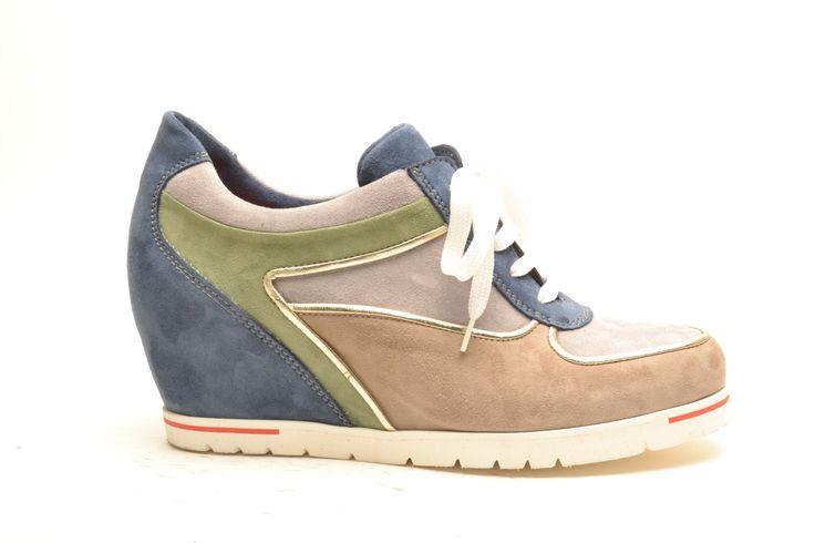 #pasderouge #shoes #summer #suede #wedge #sneaker