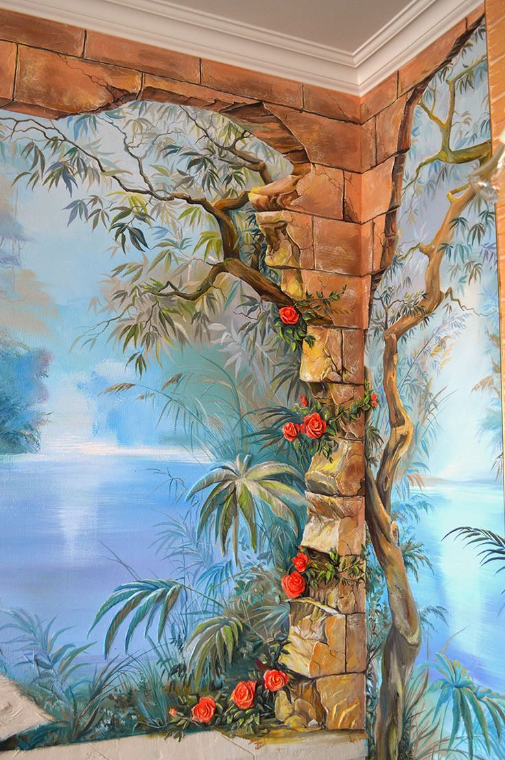 1000  images about murals & trompe l'oeil on pinterest
