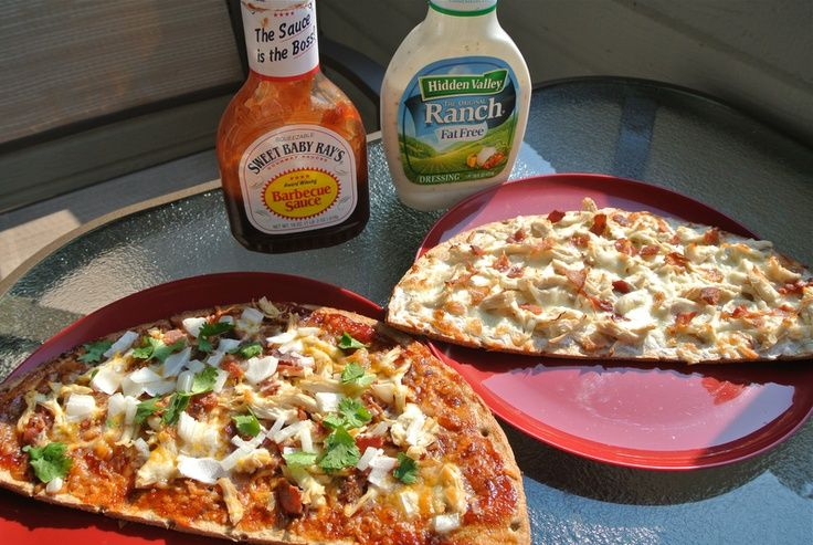 weight watchers Chicken Bacon Ranch & BBQ Chicken Pizza