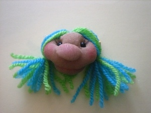 broche muñeca soft azul y verde