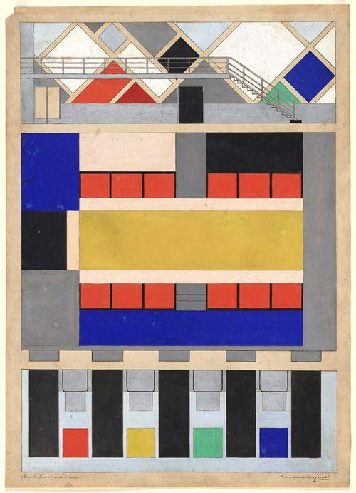 Theo van Doesburg, colour scheme for cinema-dancehall Cafe Aubette in Strasbourg, 1928