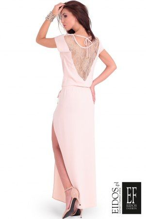 Koronkowa sukienka weselna świeży beż