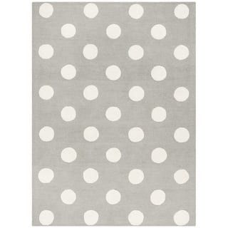 Safavieh Kids Transitional Geometric Hand-Tufted Wool Grey/ Ivory Area Rug (6' x 9')