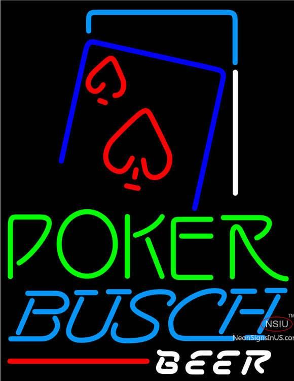 Busch Beer Green Poker Red Heart Real Neon Glass Tube Neon Sign,Affordable and durable,Made in USA,if you want to get it ,please click the visit button or go to my website,you can get everything neon from us. based in CA USA, free shipping and 1 year warranty , 24/7 service