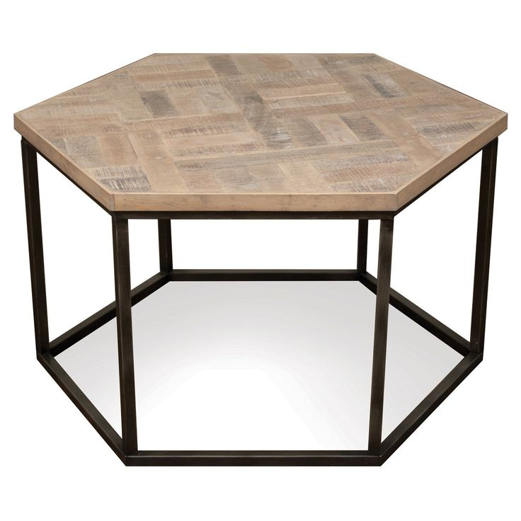 Riverside Furniture Thornhill Hexagon Cocktail Table ...