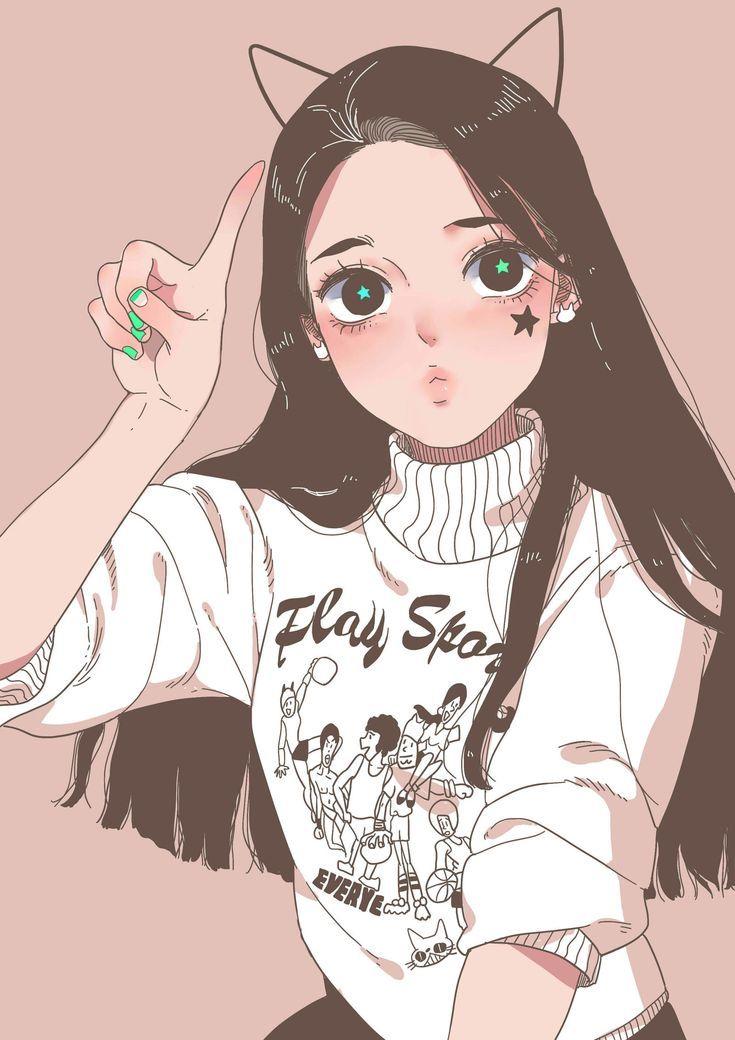 Tiểunấm Qiqi Collector Vỉa He Girls Cartoon Art Anime Art Girl Girly Art
