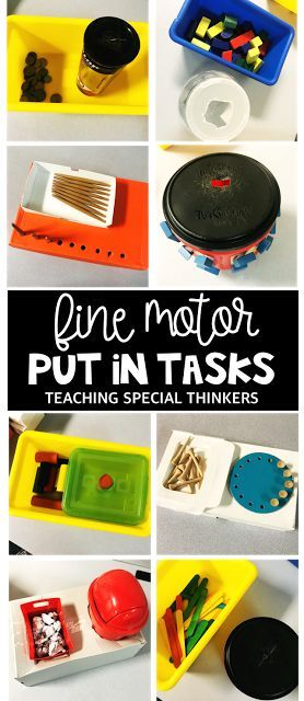 Fine Motor Put-in Independent Work Tasks for Special Education to Early Childhood Education Classrooms