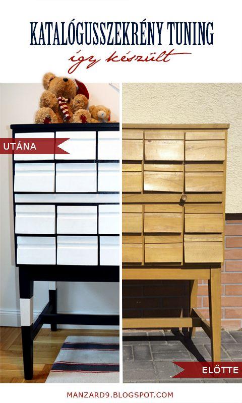 An Old Library Card Catalog Cabinet refinish I Katalógusszekrény felújítás - így készült - részletes leírás I Manzard9
