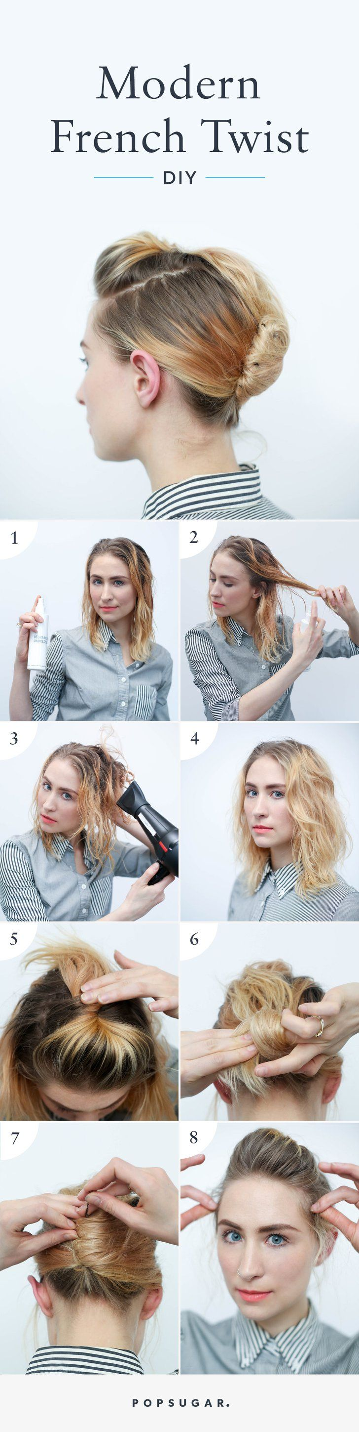 Pin for Later: This Is the Easiest Way to Put Your Hair in a Modern French Twist  Pin It!