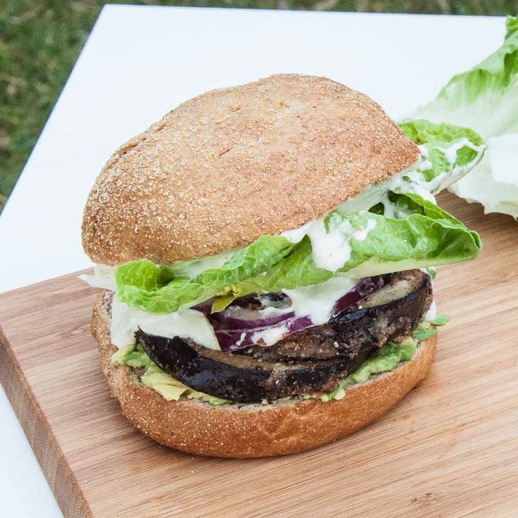 Eggplant Burgers with Vegan Mayo #glutenfree | summer recipes