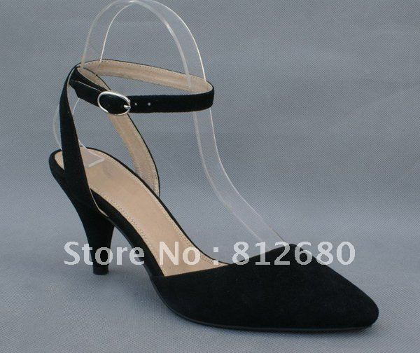 Sexy spike heels shoes suede leather ankle wrap pump women  dress shoes