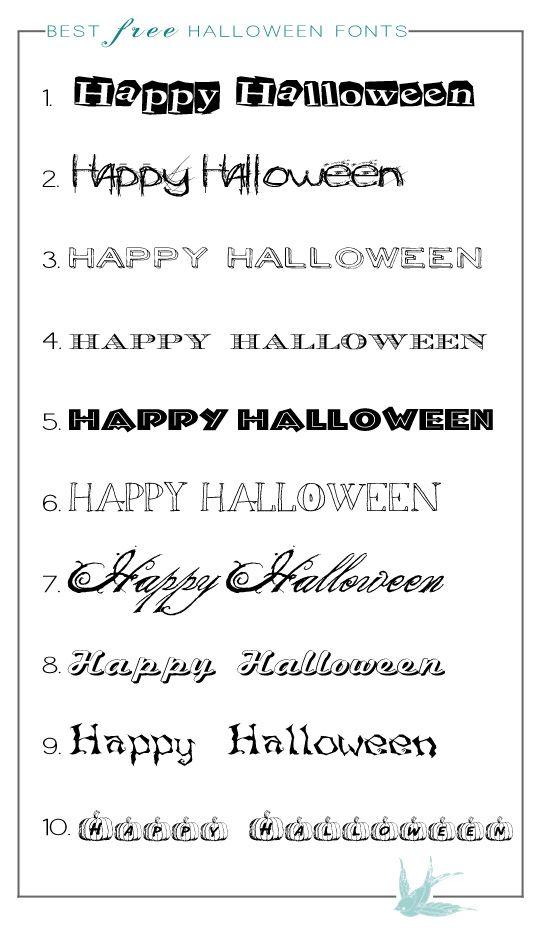 free halloween fonts - Halloween Writing Font