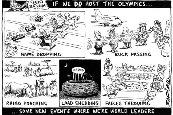 Zapiro: What if SA hosted the 2024 Olympics?