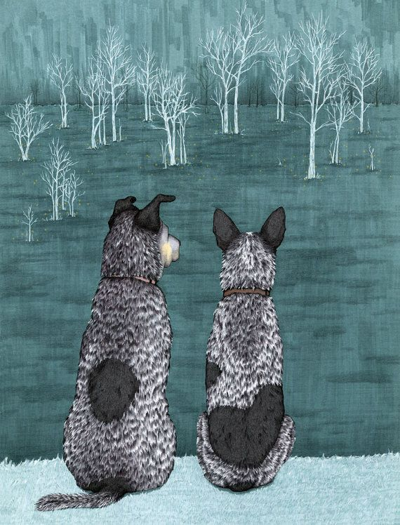 Australian Cattle Dog Blue Heeler Greeting Cards by ArtworkbyAK