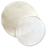 perfection for nursing mum's!! reusable Silk & Wool Breast pads (18cm) for sensitive skin